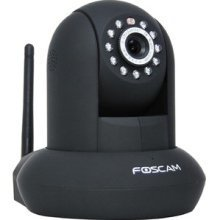 Foscam FI8910W Pan & Tilt IP/Network Camera with Two-Way Audio and Night Vision (Black)
