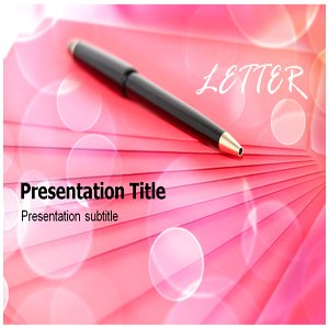 Letter Powerpoint Template - Business Letter PowerPoint (PPT) Template