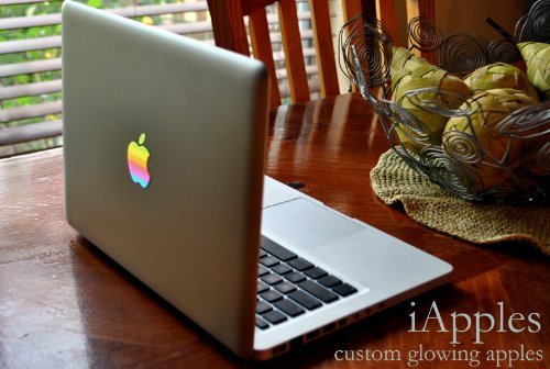 "iApples Custom MacBook Decal glowing mod vinyl cover art classic mac pro macintosh 13"" 15"" 17"" 11"" air"