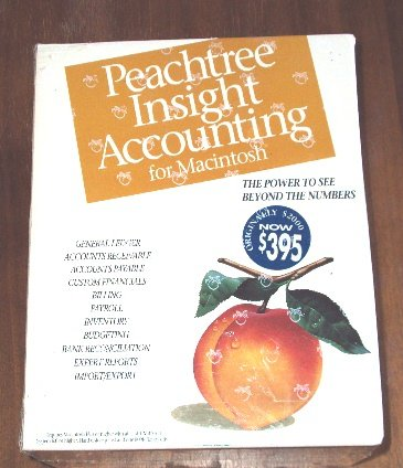 Peachtree Insight Accounting for Macintosh Version 4.0