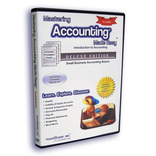 Mastering Accounting Made Easy Training Tutorial - Introductory Small Business Accounting e Book Manual Guide. Even dummies can learn from this total DVD for everyone, with Introductory - Advanced material from Professor Joe