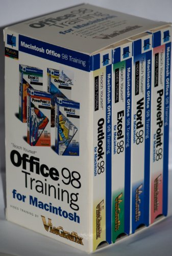 Office 98 Training for Macintosh (VHS tapes x 4) Outlook 98, PowerPoint 98, Excel 98, Word 98