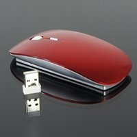 TopCase Red USB Optical Wireless Mouse for Macbook (pro,air) and All Laptop + TopCase Mouse Pad