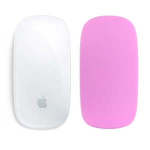 Cosmos ® Pink color silicone soft skin protector cover for MAC Apple Magic Mouse with Cosmos Fastening Strap