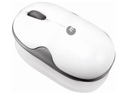 Macally Portable 2.4 GHz Wireless Optical Mouse for Mac and PC (White)