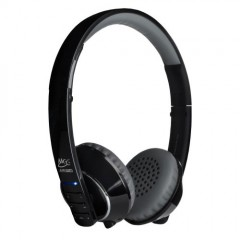 MEElectronics Air Fi Runaway Bluetooth Stereo Wireless Headphones with Microphone (Black/Grey)