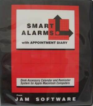 "Smart Alarms with Appointment Diary from jam Software - 3.5"" Floppy Diskette - Desk Accessory Calendar and Reminder System for Apple Macintosh Computers"
