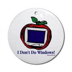 Apple Computer Macintosh Ornament Round Round Ornament by CafePress