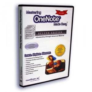 Mastering OneNote (One Note) Made Easy v. 2010 & 2007 Video Training Tutorial DVD-ROM