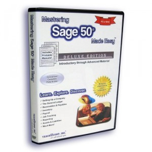 Mastering Sage 50 Made Easy v. 2013 Video Training Tutorial DVD-ROM