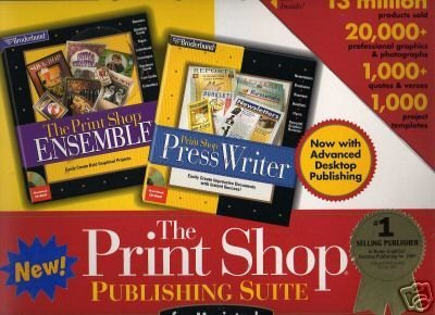 The Print Shop Publishing Suite For Macintosh Includes The Print Shop Ensemble & The Print Shop Press Writer