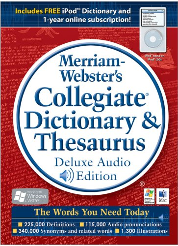 Merriam-Webster's Collegiate Dictionary & Thesaurus Deluxe A